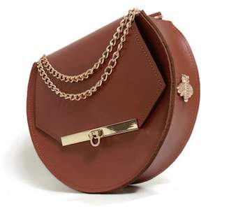 Angela Valentine Handbags - Loel Military Bee Circle Bag In Chestnut