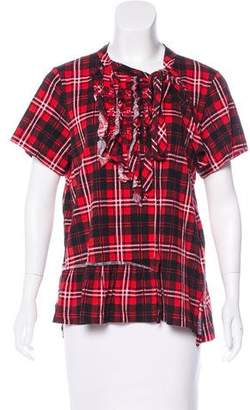 Marc Jacobs Ruffled Flannel Top