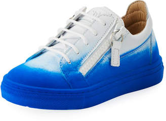 Giuseppe Zanotti Smuggy Elettrico Ombre Low-Top Sneakers, Toddler