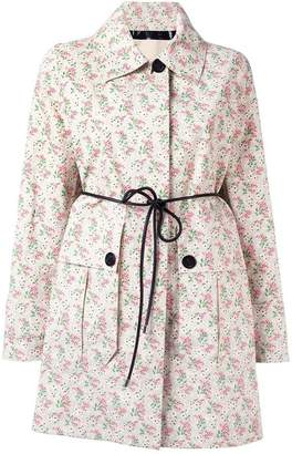 Moncler floral waist-tie coast
