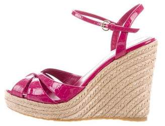 Gucci Embossed GG Wedges