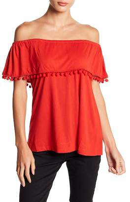 Fever Off-the-Shoulder Popover Blouse
