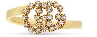 Gucci GG Running ring with diamonds
