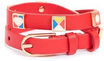 Tory BurchWomen's Tory Burch Flag Leather Wrap Bracelet