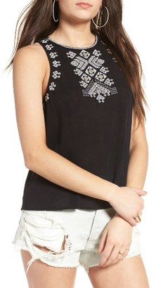 Women's Sun & Shadow Leah Embroidered Tank $45 thestylecure.com