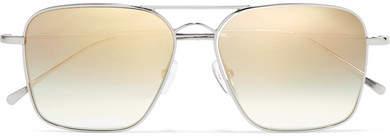 Illesteva - Milos Aviator-style Metal Sunglasses - Silver