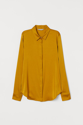 H&M Long-sleeved Blouse - Yellow