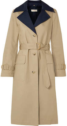 Tory Burch Ashby Two-tone Cotton-canvas Trench Coat
