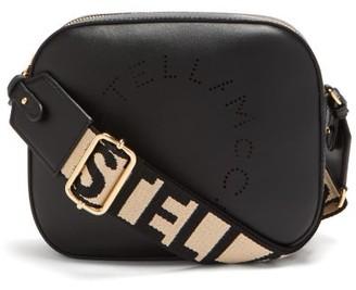 Stella McCartney Logo Strap Faux Leather Camera Bag - Womens - Black