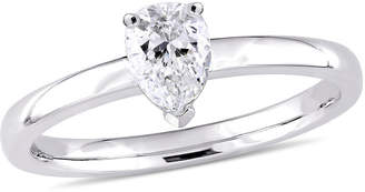 MODERN BRIDE Womens 1/2 CT. T.W. Genuine White Diamond 14K Gold Pear Solitaire Engagement Ring