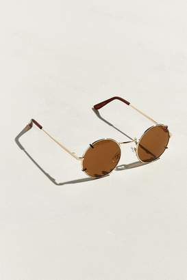 Urban Outfitters Faux Clip Round Sunglasses