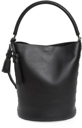 Max MaraMax Mara Bobag Leather Bucket Bag - Black
