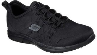 Skechers Women's Ghenter - Srelt Bungee Laced Slip Resistant Work Shoe