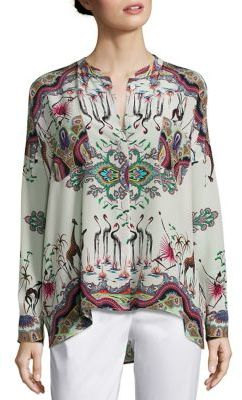 Etro Safari-Print Silk Tunic $840 thestylecure.com
