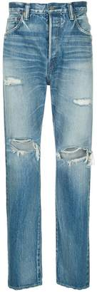 H Beauty&Youth ripped loose fit jeans