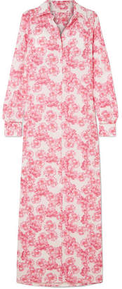 Christina Eywasouls Malibu Floral-print Cotton-voile Maxi Dress - Pink