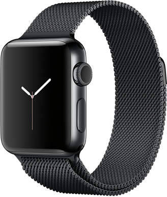 Apple Watch Series 2 38mm Space Black Stainless Steel Case with Space Black Milanese Loop