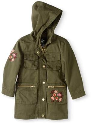 Beverly Hills Polo Club Toddler Girl Embroidered Cotton Anorak Jacket