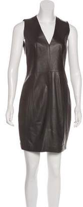 Akris Leather Mini Dress