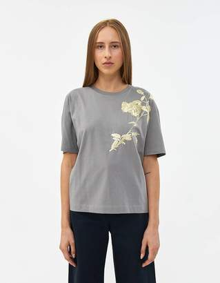 Dries Van Noten Haru Embridered Tee in Grey