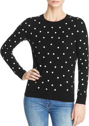 C by Bloomingdale's Polka Dot Lightweight Cashmere Sweater - 100% Exclusive