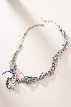 Anthropologie Dannijo Violette Liberty Fabric Bib Necklace