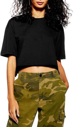 Topshop Washed Boxy Cropped Tee