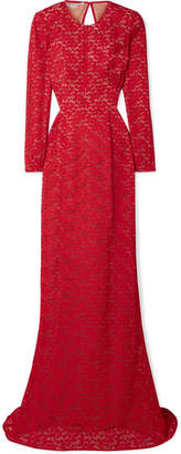Stella McCartney Open-back Corded Lace Gown - Red