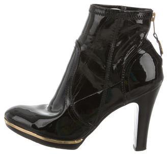 Tory Burch Tory Burch Patent Leather Ankle Boots