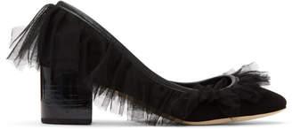 Repetto Black Suede Farrah Tutu Heels
