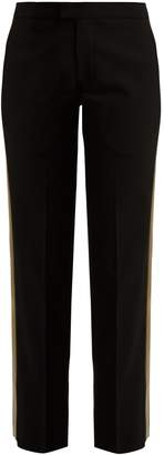 Wales Bonner Mid-rise tailored wool-blend trousers