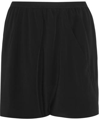 Rick Owens - Buds Crepe De Chine Shorts - Black $440 thestylecure.com