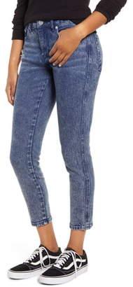 Prosperity Denim Acid Wash Crop Skinny Jeans