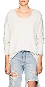 NSF Women's Corset-Detailed Cotton Sweatshirt - White