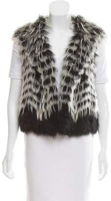 Yigal Azrouel Open Front Fur Vest
