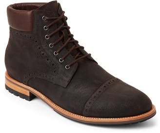 Hudson Warfield & Grand Dark Brown Lace-Up Leather Boots