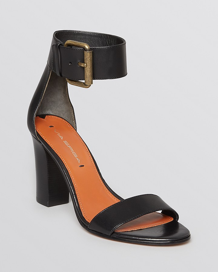 Via Spiga Sandals - Foxy Ankle Strap High Heel