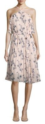 Shoshanna Pleated Floral-Print Halter Dress $360 thestylecure.com