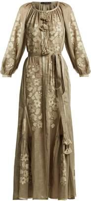 VITA KIN Garden floral-embroidered linen dress