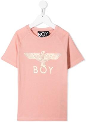 Boy London Kids logo print t-shirt