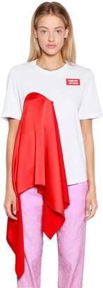 MSGM Cotton & Silk T-Shirt