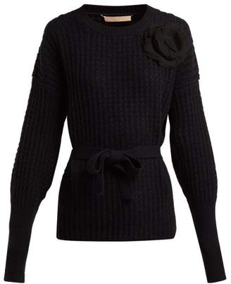 Brock Collection Kaori Cashmere And Wool Blend Sweater - Womens - Black