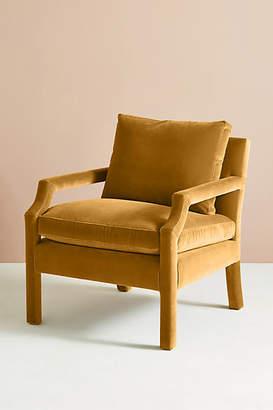 Anthropologie Velvet Delaney Chair