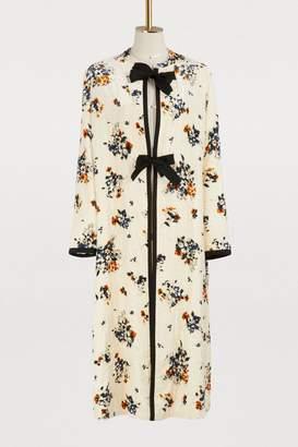 Forte Forte Floral print velvet kimono