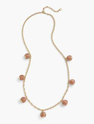 Talbots Thread-Wrapped Spheres Necklace