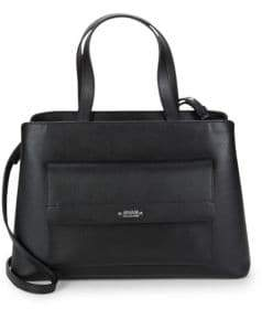 Armani Collezioni Open Top Leather Satchel