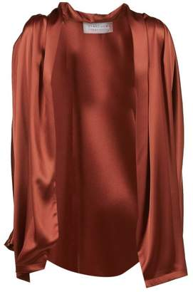 Gianluca Capannolo Satin Open Front Cardigan