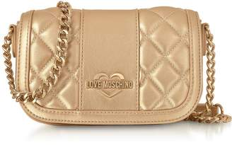 Love Moschino Metallic Quilted Eco Leather Mini Shoulder Bag