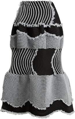 Issey Miyake Stag pleated satin midi skirt