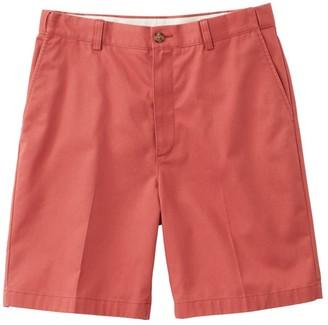 """L.L. Bean L.L.Bean Men's Wrinkle-Free Double LA Chino Shorts, Hidden Comfort Waist Plain Front 8"""" Inseam"""